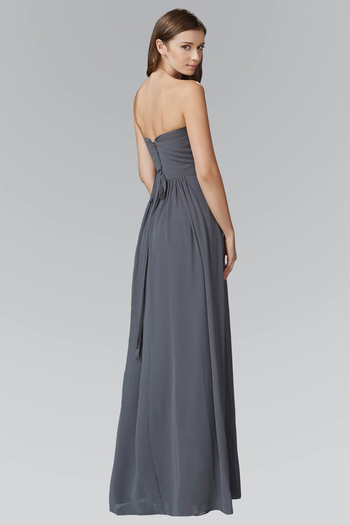 Sweetheart Long Bridesmaid Formal Dress - The Dress Outlet Elizabeth K
