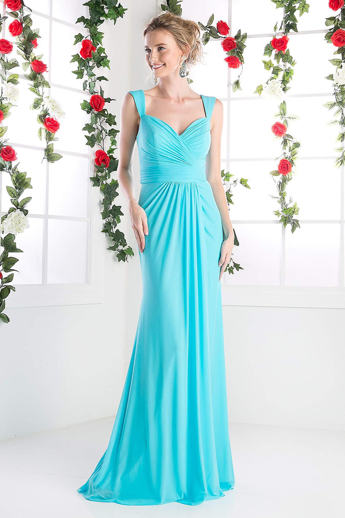 Sweetheart Formal Sleeveless Chiffon Prom Long Gown - The Dress Outlet Cinderella Divine