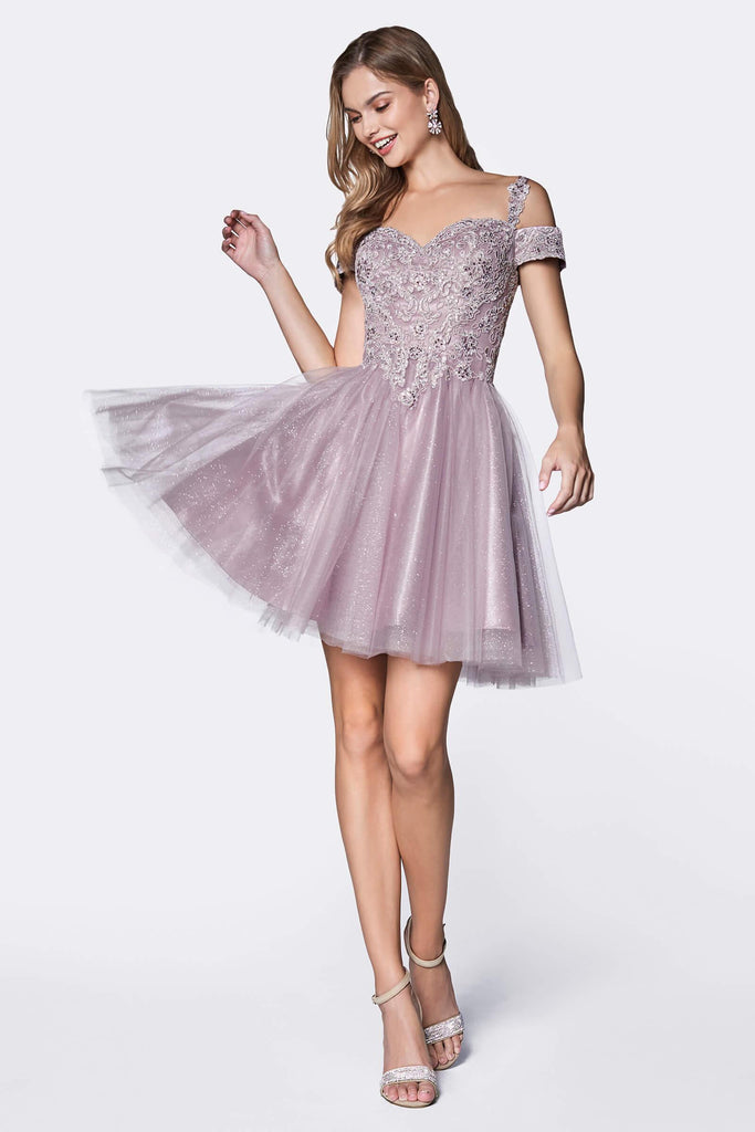 Short Prom Formal Homecoming Dress - The Dress Outlet Cinderella Divine