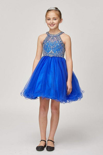 Sleeveless Embellished Short Party Dress Flower Girl