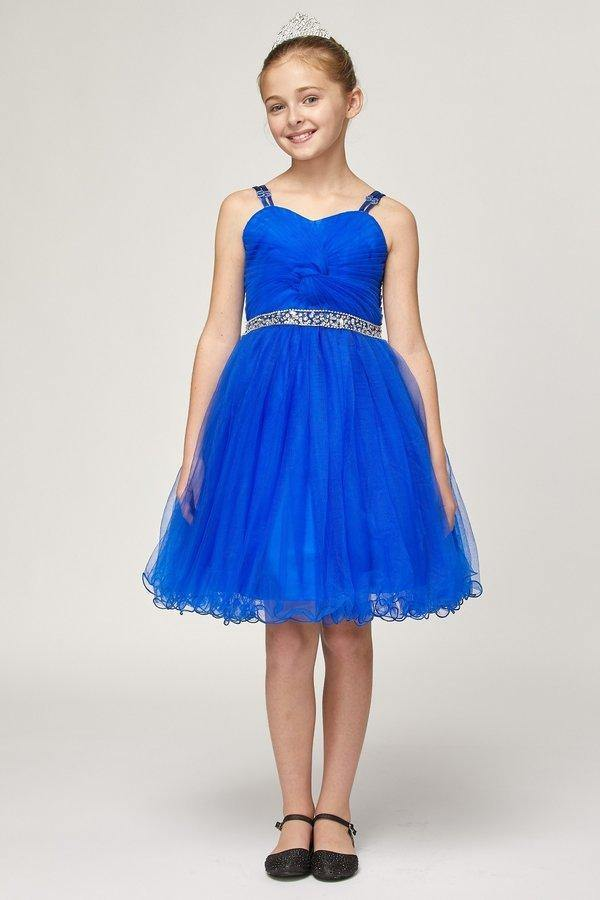 Spaghetti Strap Short Tulle Party Dress Flower Girl