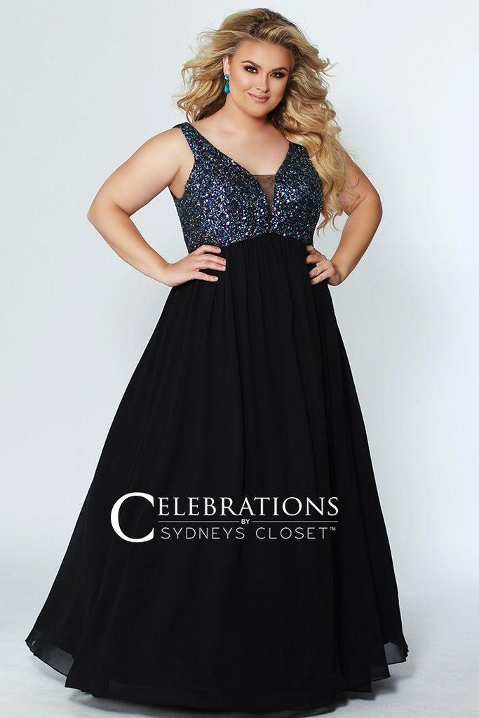 822437b8d9b Sydneys Closet Plus Size Prom Long Formal Dress - The Dress Outlet 14  Sydneys Closet ...
