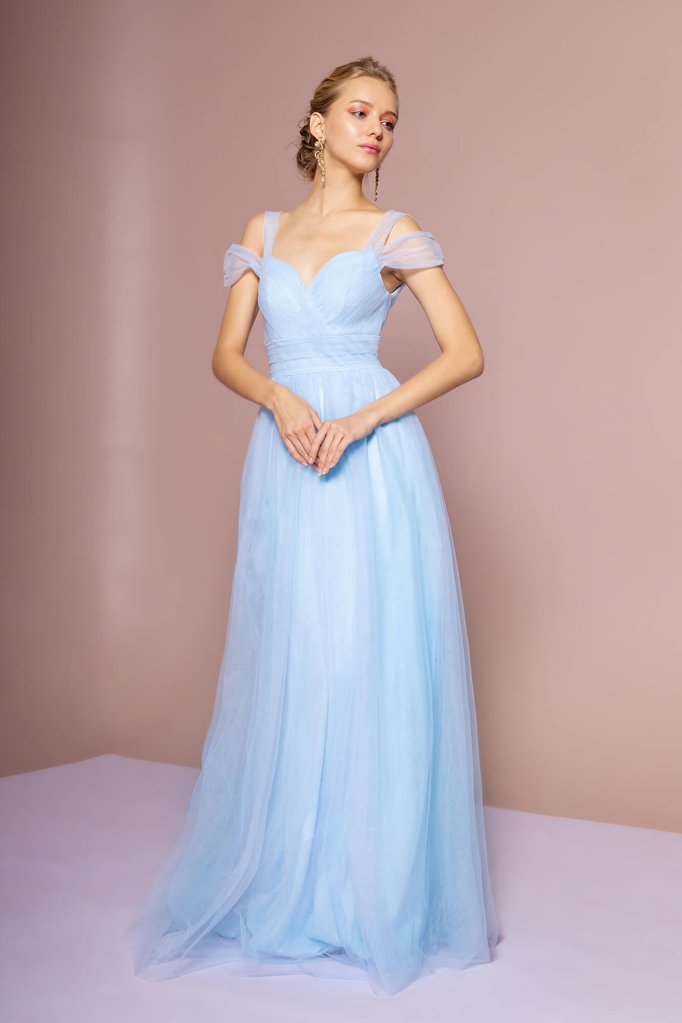 6ed5843512e Sweethearted Formal Long Dress Bridesmaid - The Dress Outlet Baby Blue Elizabeth  K ...