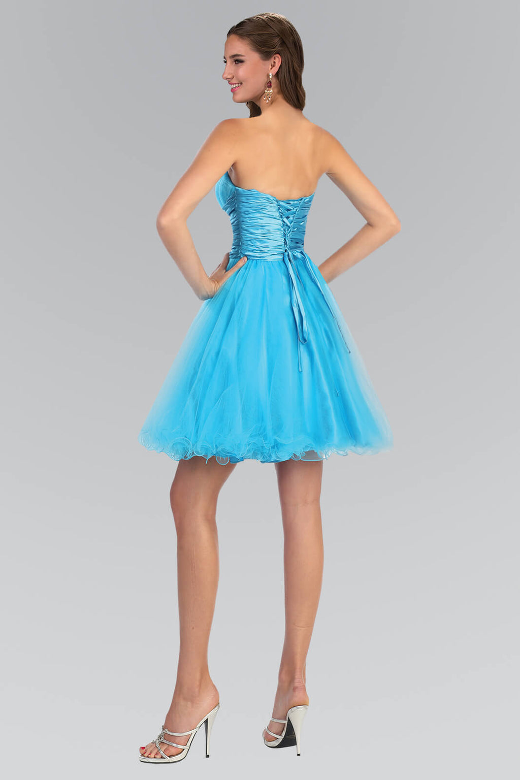 Strapless Short Prom Dress Formal Homecoming - The Dress Outlet