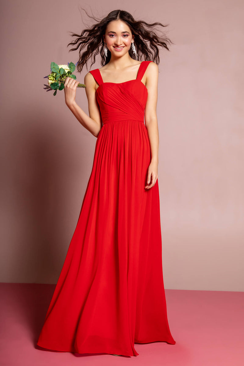Sleeveless Chiffon Long Formal Dress