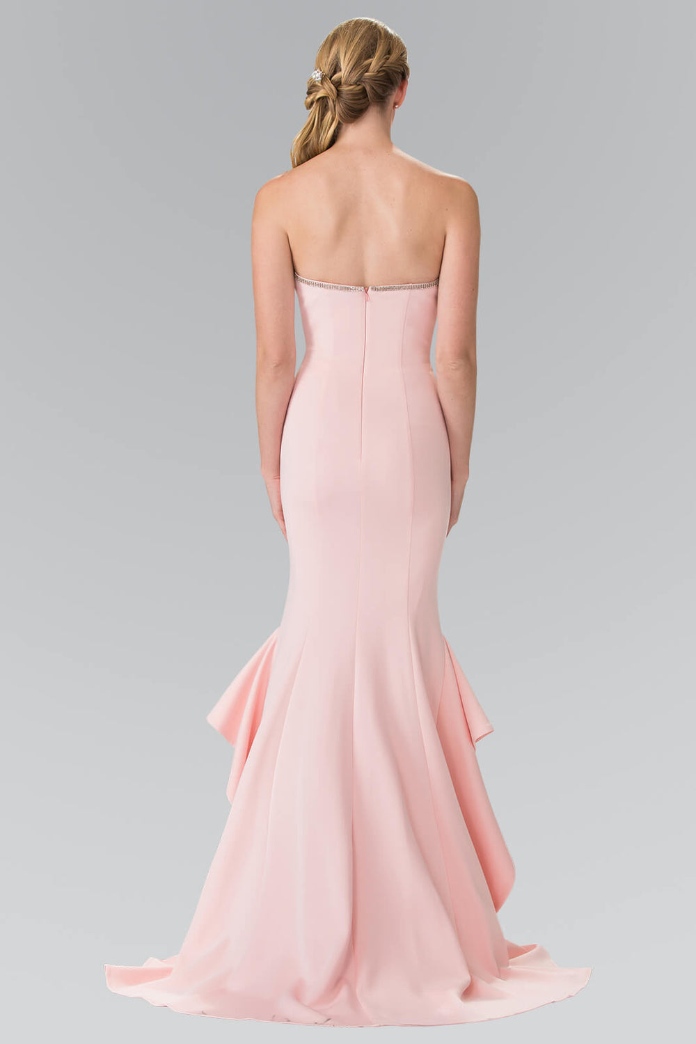 Strapless Long Prom Dress Formal Evening Gown - The Dress Outlet
