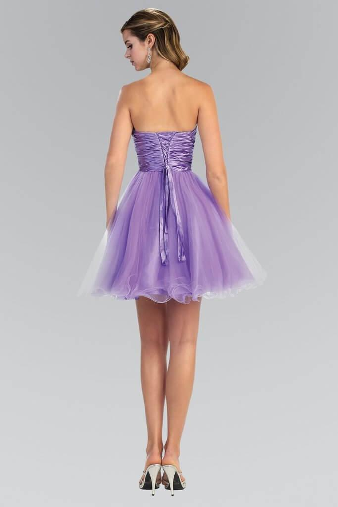 Strapless Prom Short Dress Formal Homecoming - The Dress Outlet