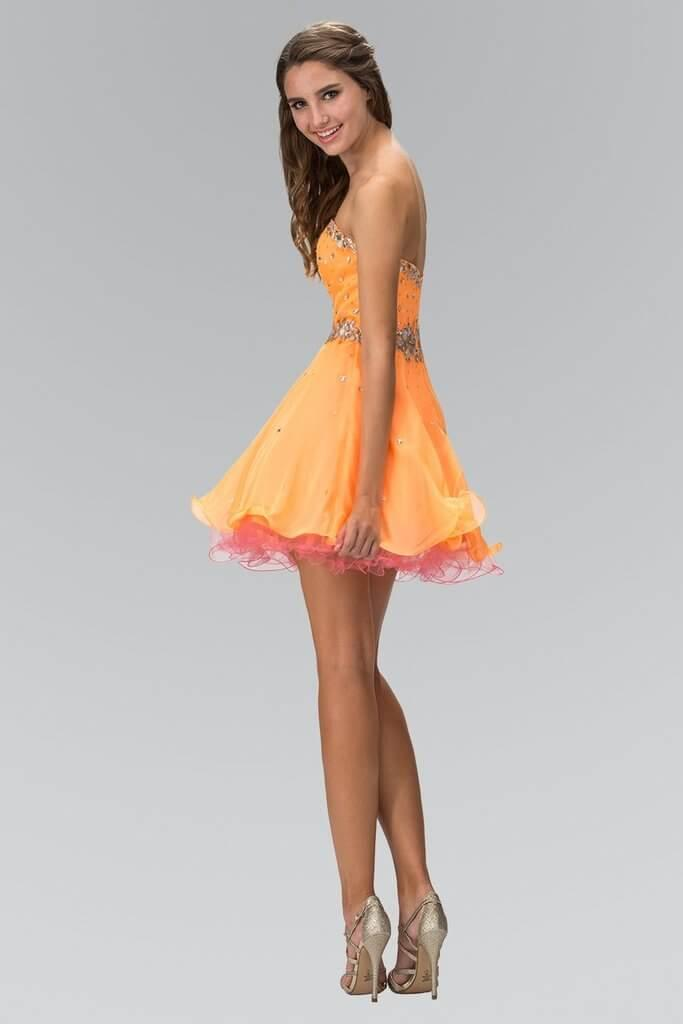 Short Strapless Prom Dress Homecoming - The Dress Outlet