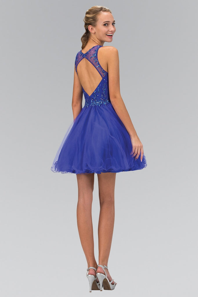 Sleeveless Short Prom Dress Homecoming - The Dress Outlet Royal
