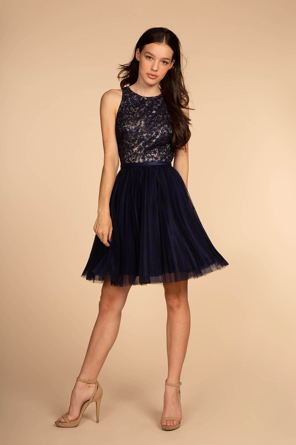 Short Prom Dress Homecoming - The Dress Outlet Navy