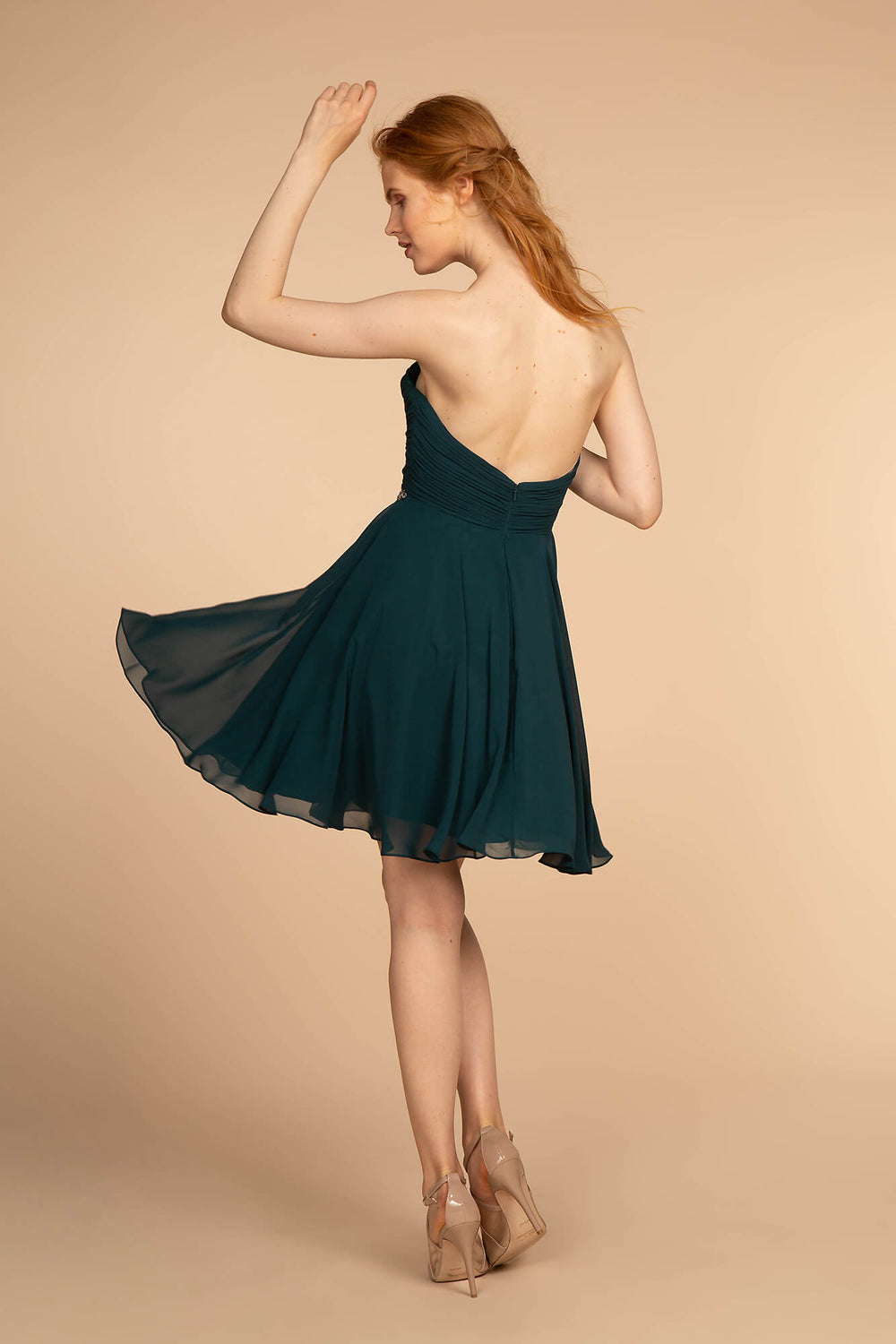 Strapless Short Cocktail Dress Formal - The Dress Outlet