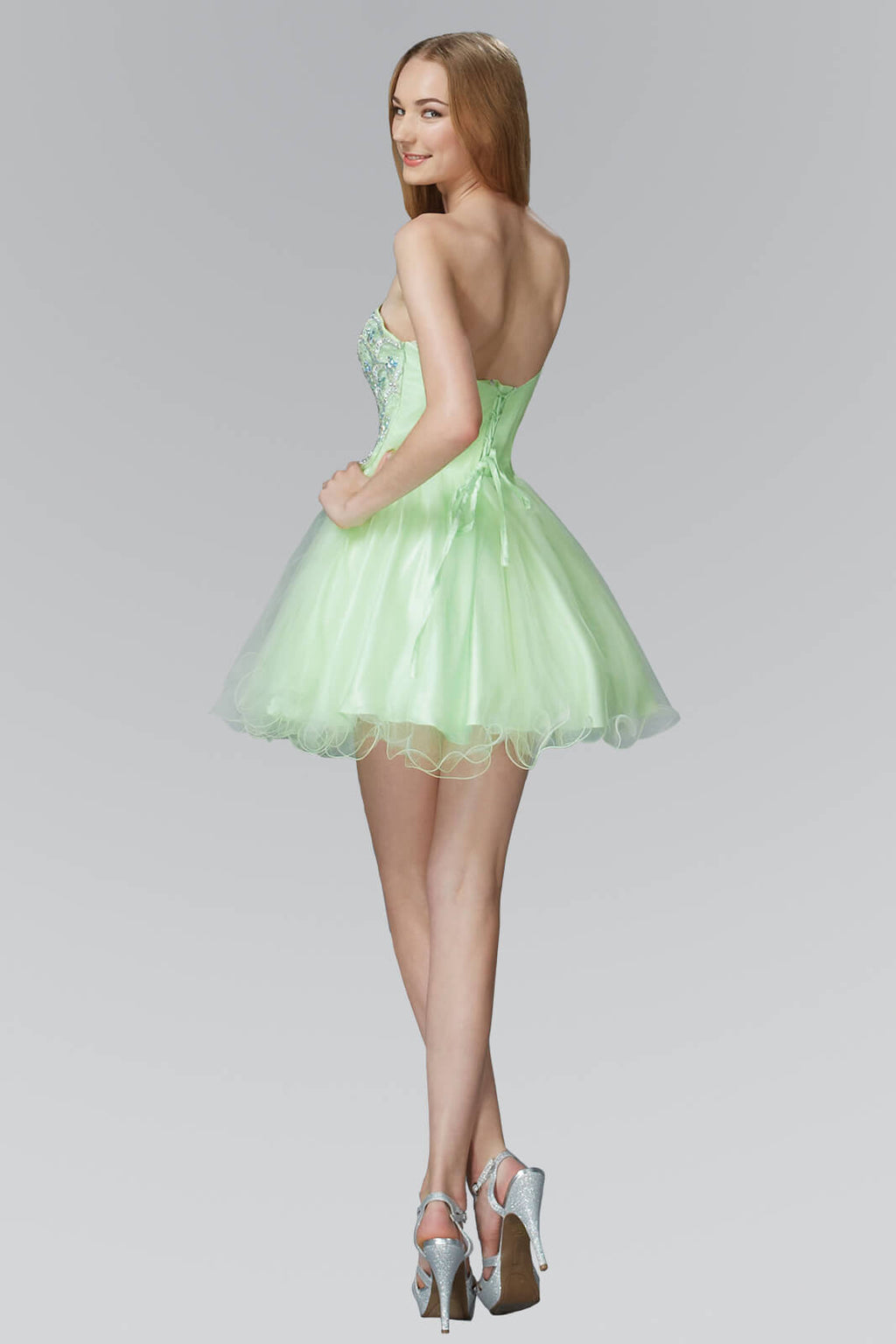 Strapless Short Prom Dress Homecoming - The Dress Outlet