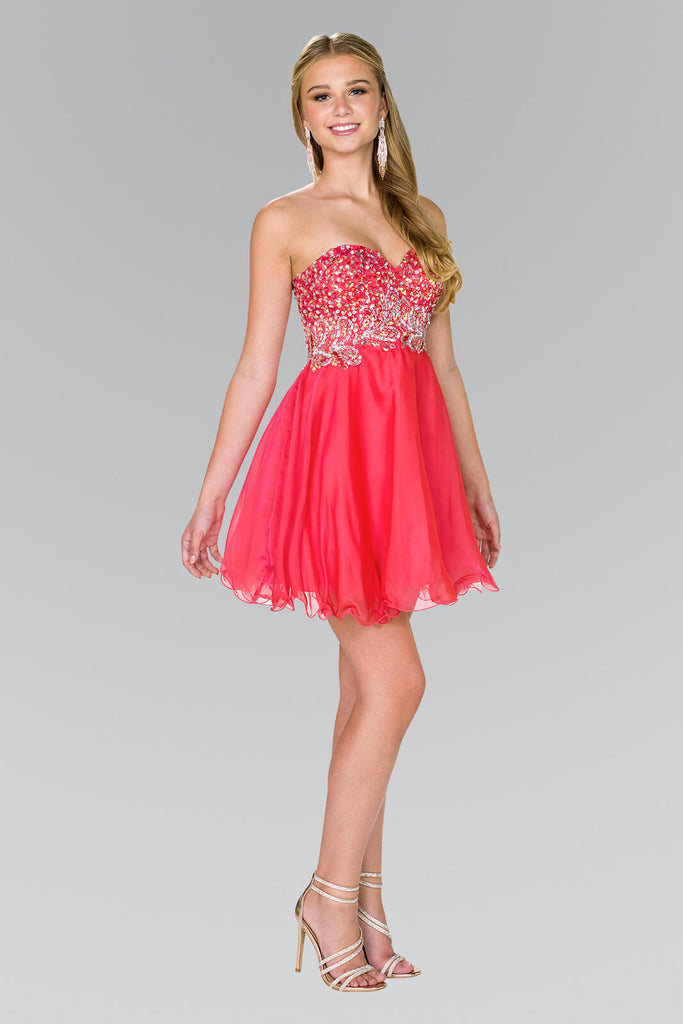 Strapless Prom Short Dress Homecoming - The Dress Outlet Elizabeth K