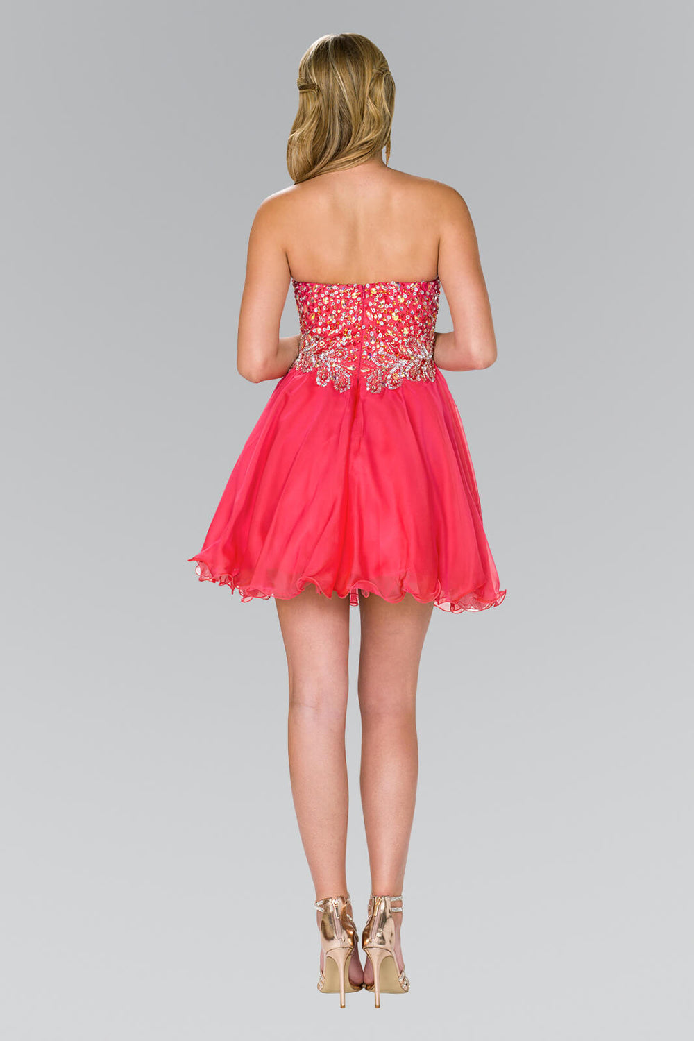 Strapless Prom Short Dress Homecoming - The Dress Outlet