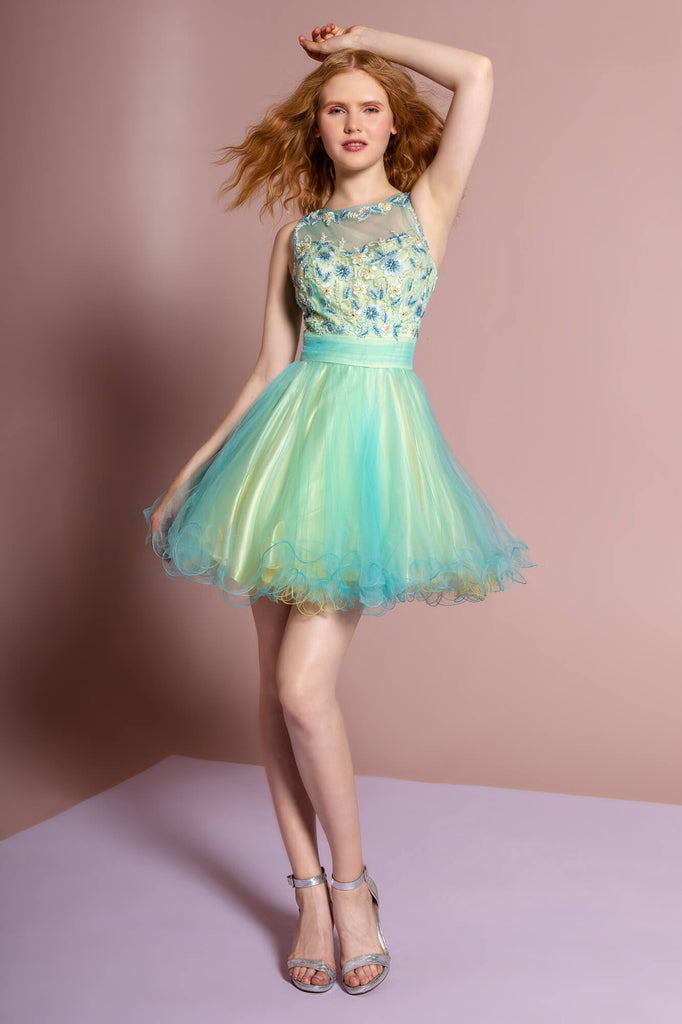 Sleeveless Short Cocktail Dress Prom - The Dress Outlet Elizabeth K