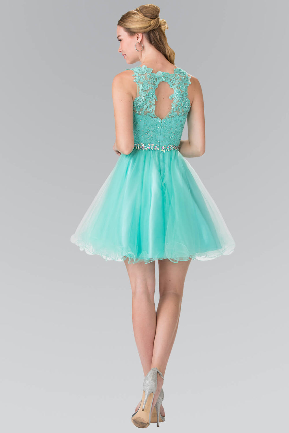 Sleeveless Prom Short Dress Homecoming - The Dress Outlet