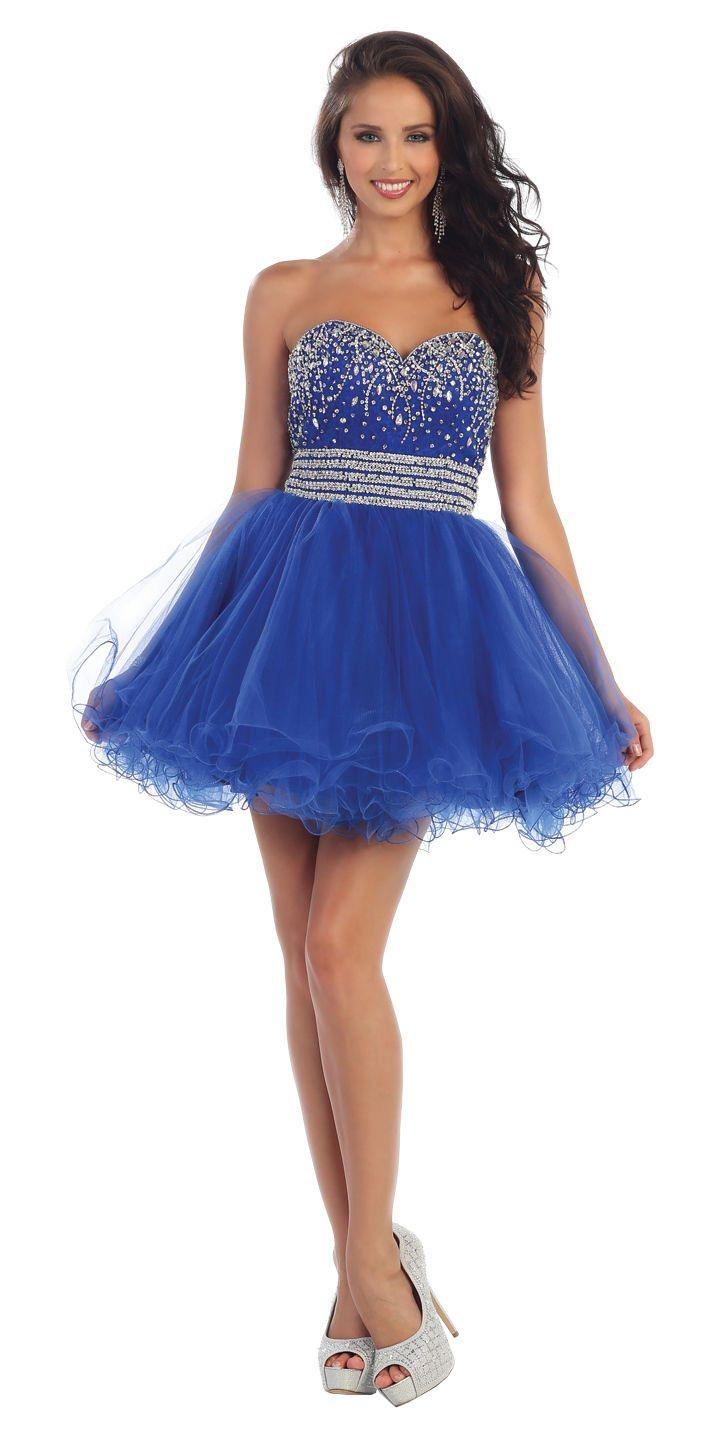 Short Prom Formal Cocktail Dress Homecoming - The Dress Outlet Royal Blue