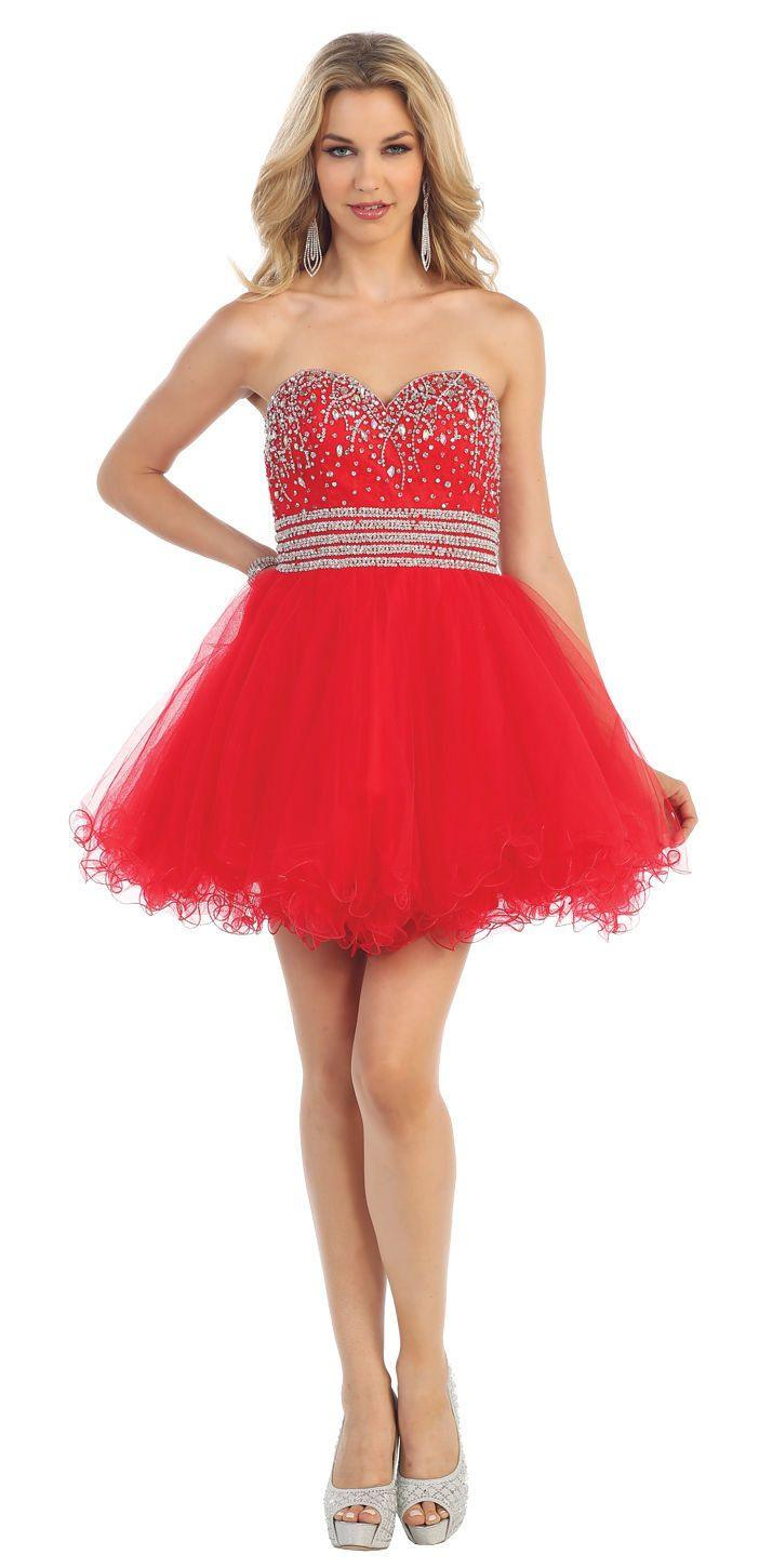 Short Prom Formal Cocktail Dress Homecoming - The Dress Outlet Red