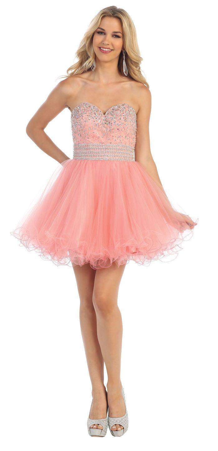 Short Prom Formal Cocktail Dress Homecoming - The Dress Outlet Blush