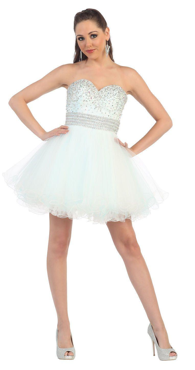 Short Prom Formal Cocktail Dress Homecoming - The Dress Outlet Aqua