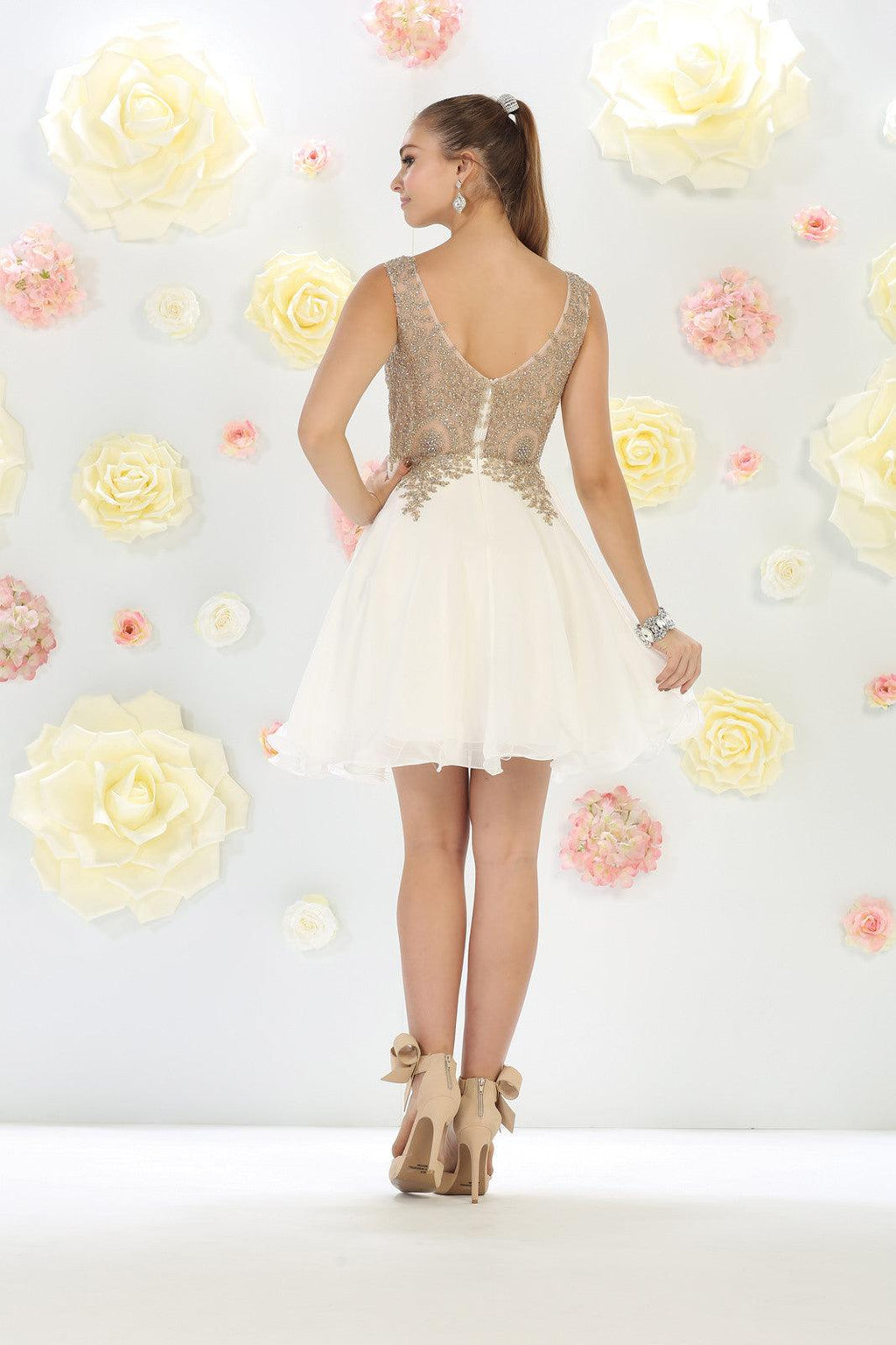 Short Prom Homecoming Dress - The Dress Outlet  May Queen