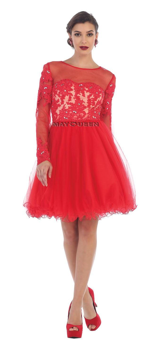 Short Prom Dress Homecoming - The Dress Outlet Red