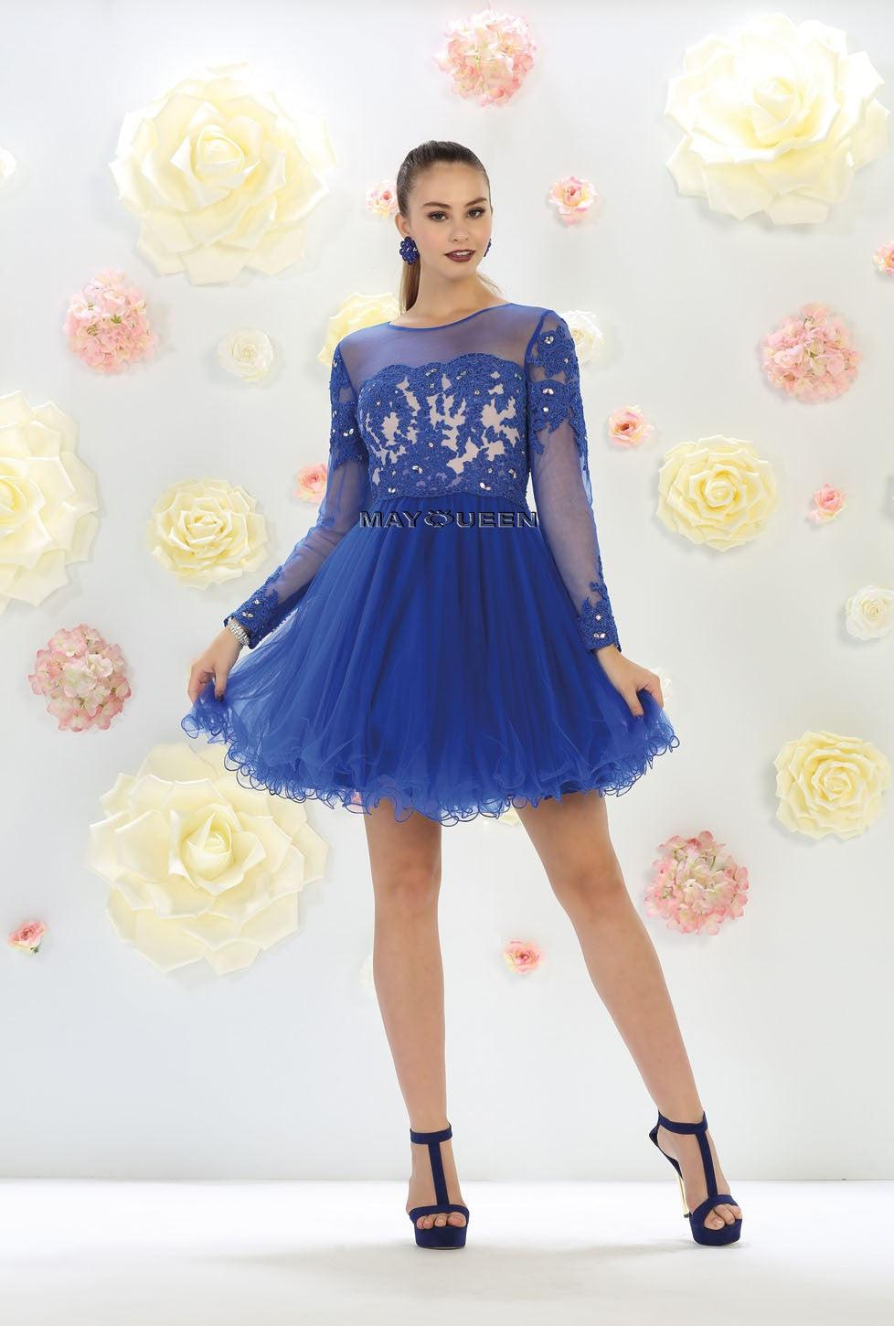 Short Prom Dress Homecoming - The Dress Outlet Royal