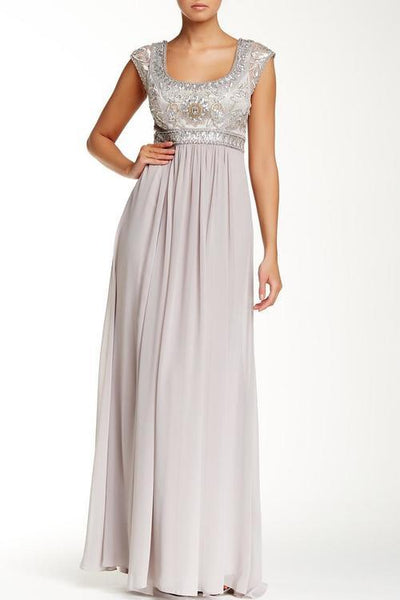 Sue Wong Formal Long Dress Evening Gown - The Dress Outlet Platinum Sue Wong