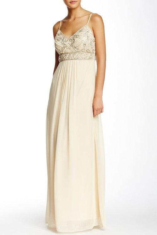Sue Wong Formal Long Dress Evening Gown - The Dress Outlet Champagne
