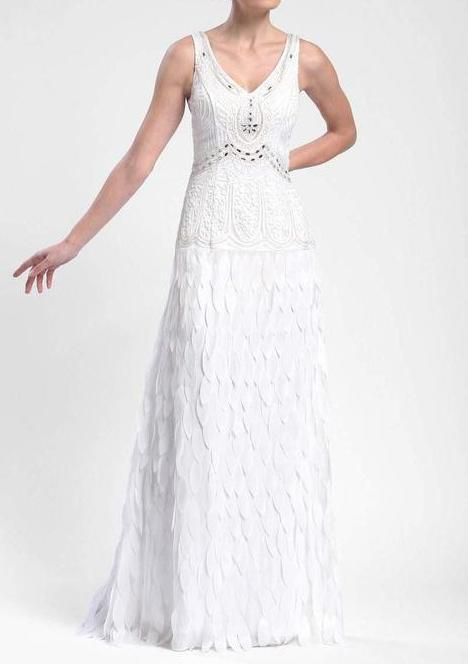 Sue Wong Long Formal Dress Wedding Evening Gown - The Dress Outlet White