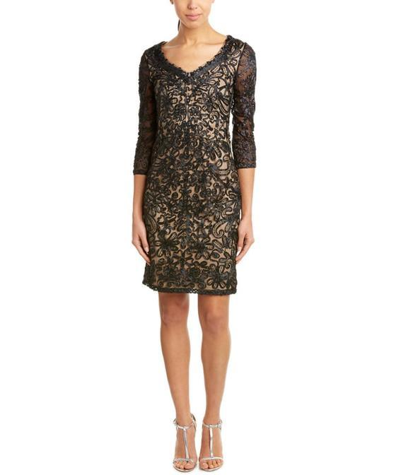 Sue Wong Short Cocktail Dress Formal - The Dress Outlet Black