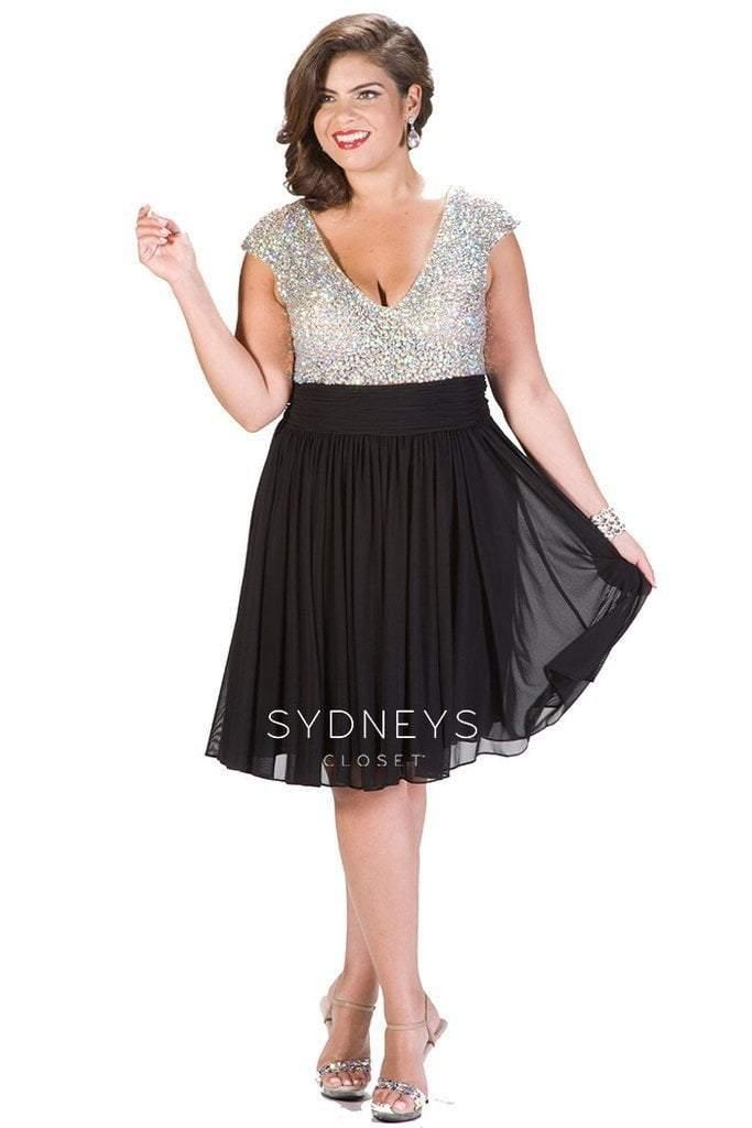 Sydneys Closet Short Plus Size Prom Dress