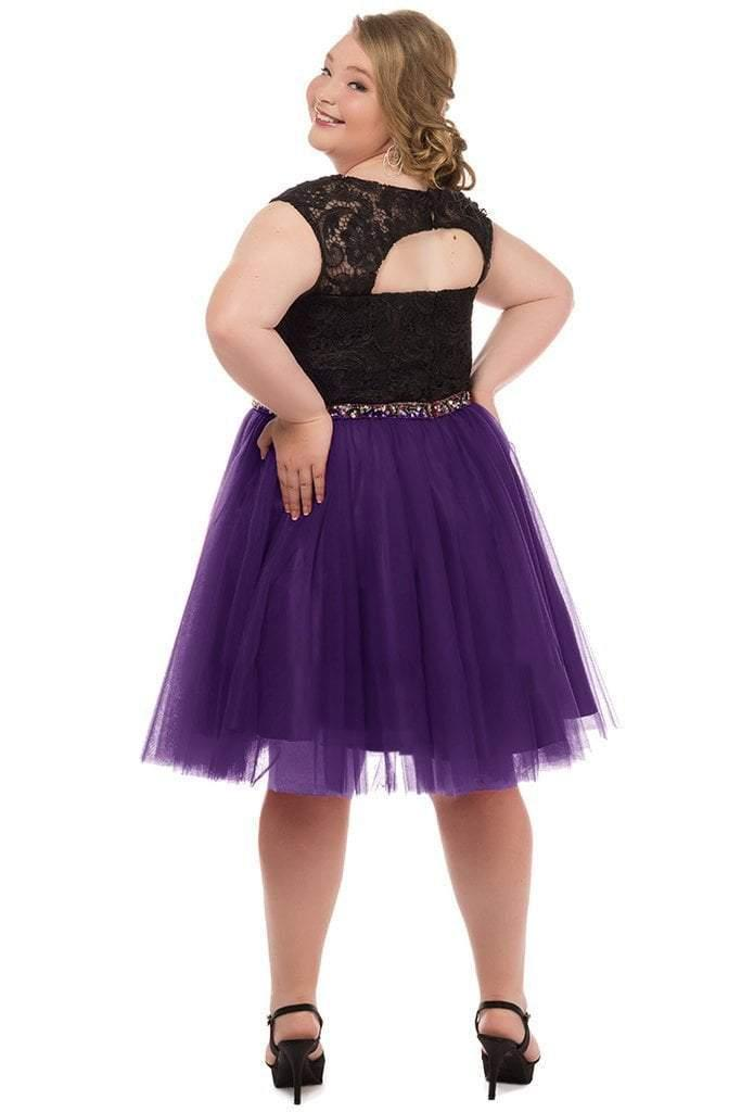 Sydneys Closet Plus Size Short Prom Dress - The Dress Outlet