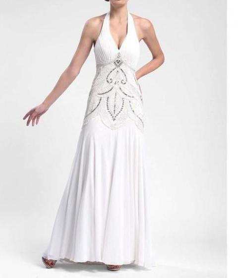 Sue Wong Sexy Evening Gown Formal Dress Prom - The Dress Outlet White