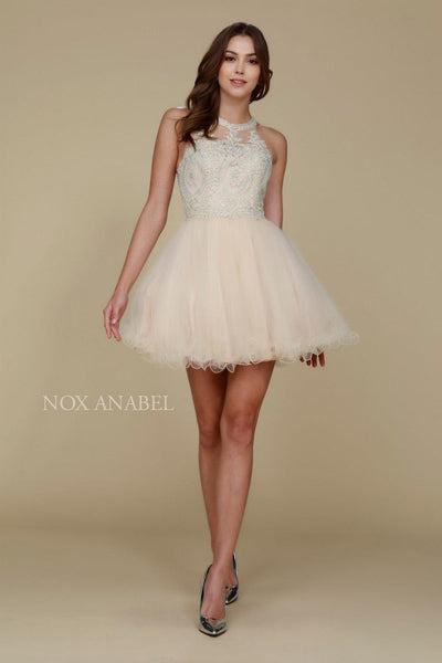 Short Tulle Prom Homecoming Dress - The Dress Outlet  Nox Anabel