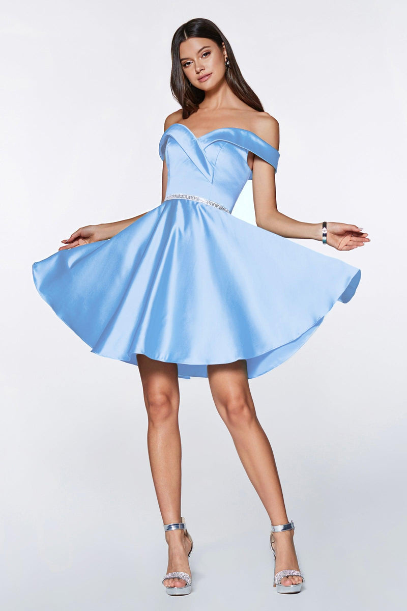 Short Prom Off the Shoulder Homecoming Cocktail Dress