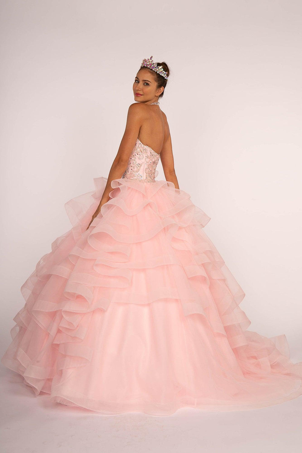 Sweet 16 Long Ball Gown Quinceanera - The Dress Outlet
