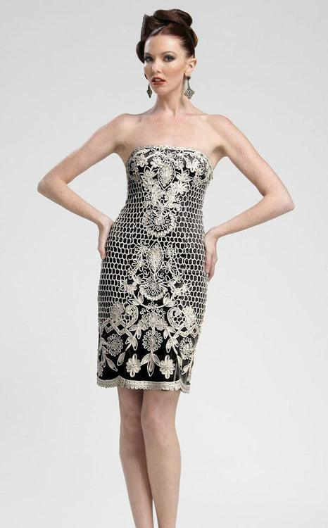 Sue Wong Short Cocktail Party Strapless Dress - The Dress Outlet