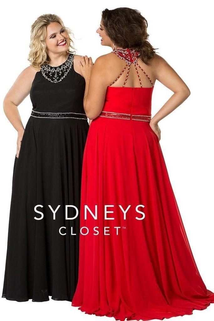 Sydneys Closet Long Formal Prom Dress - The Dress Outlet