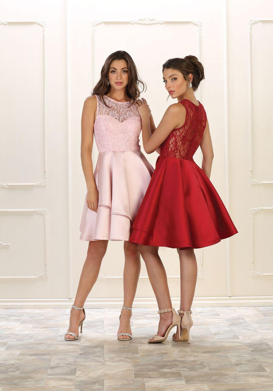 Short Prom Dress Homecoming Plus Size Cocktail - The Dress Outlet