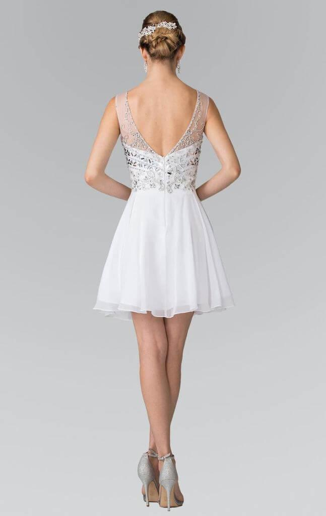 Sleeveless Cocktail Dress Prom Homecoming - The Dress Outlet