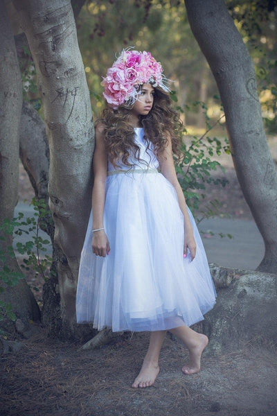 Sleeveless Flower Girl Dress Formal - The Dress Outlet  Petite Adele
