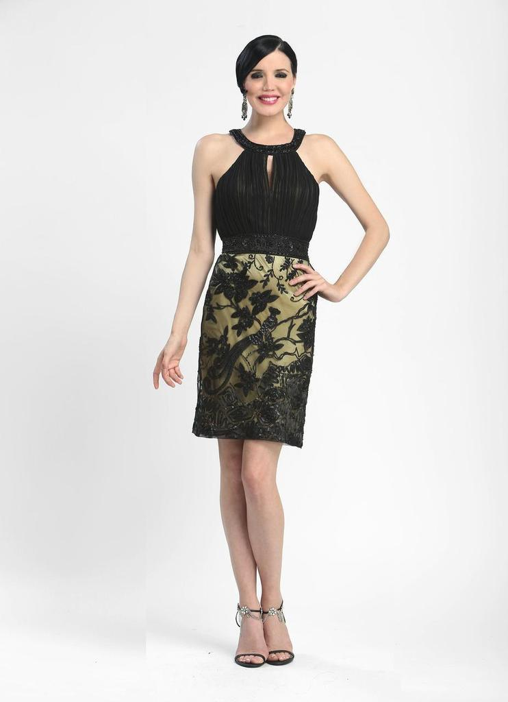 85fcf719a39 Sue Wong Short Formal Cocktail Dress - The Dress Outlet Sue Wong ...