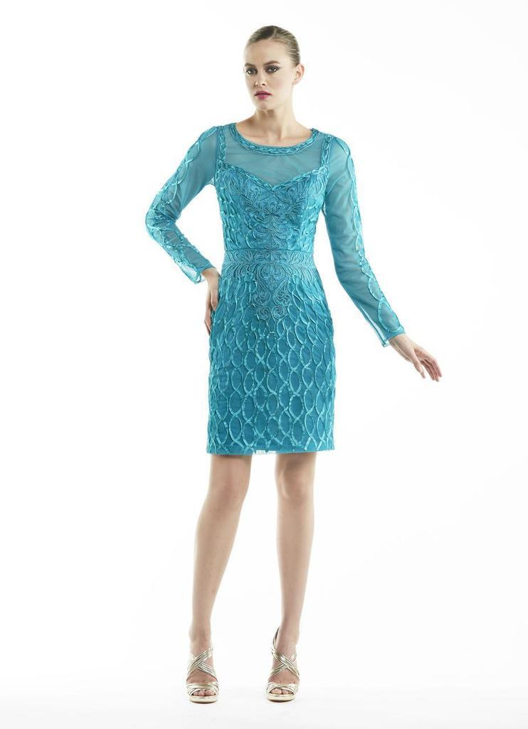 Sue Wong Short Dress Cocktail Formal - The Dress Outlet