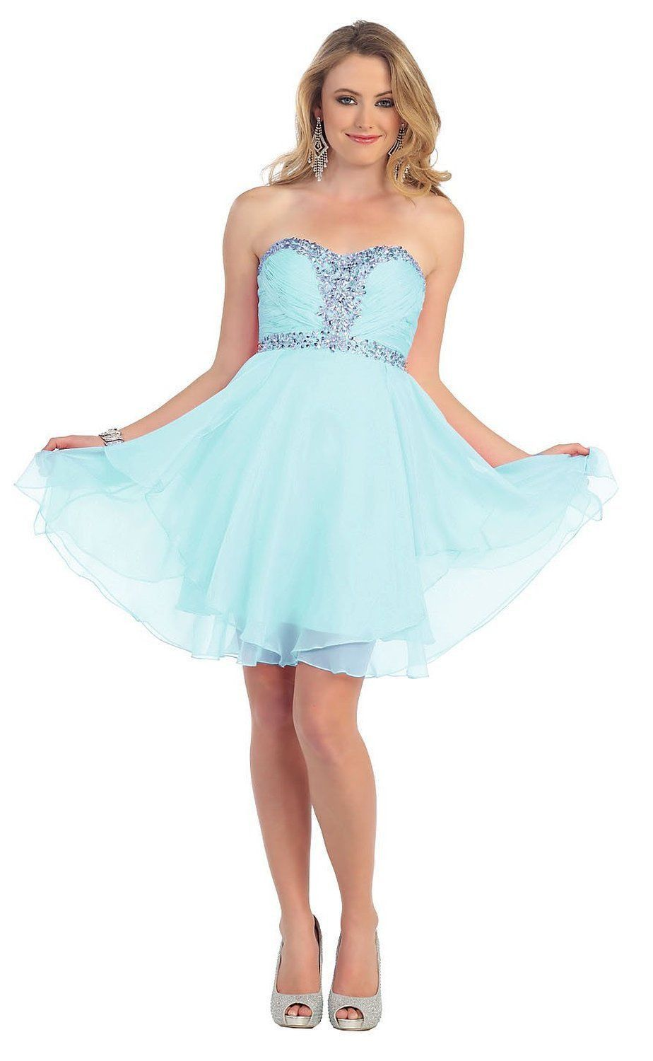 Short Prom Plus Size Homecoming Cocktail Dress - The Dress Outlet Aqua