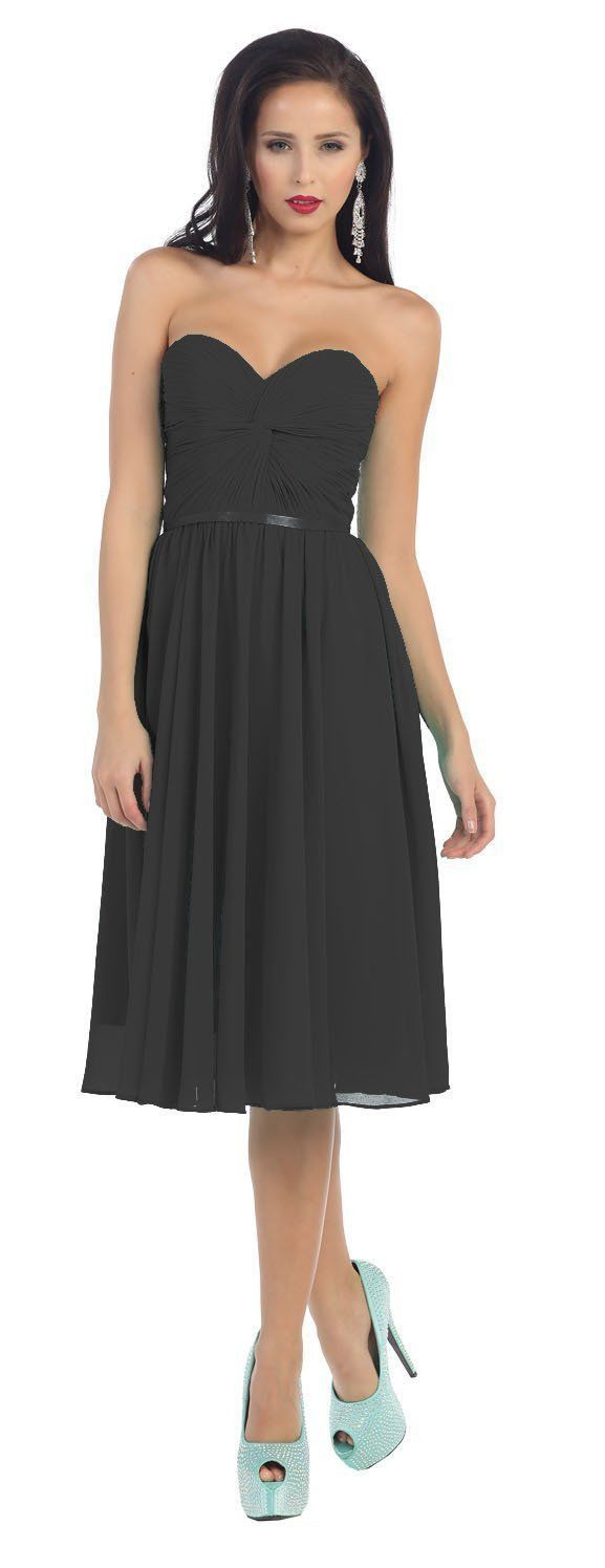 Short Prom Dress Plus Size Formal Cocktail - The Dress Outlet Black