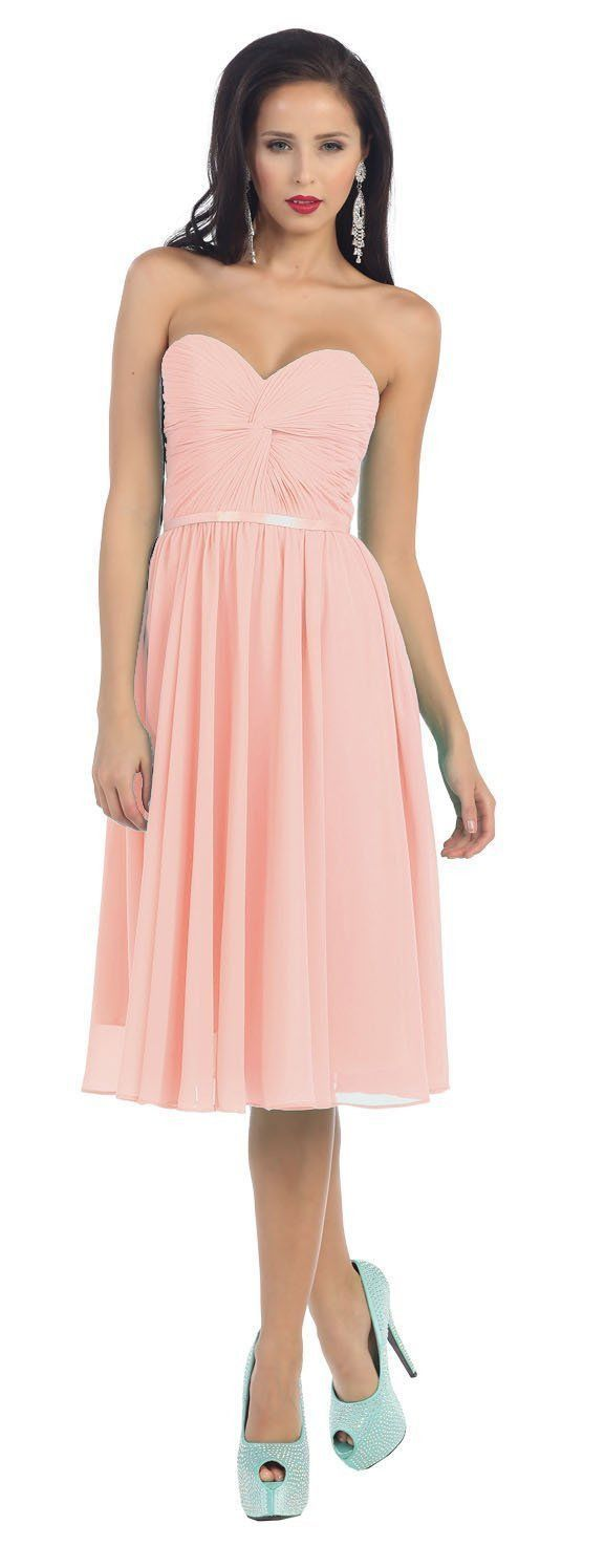 Short Prom Dress Plus Size Formal Cocktail - The Dress Outlet Blush