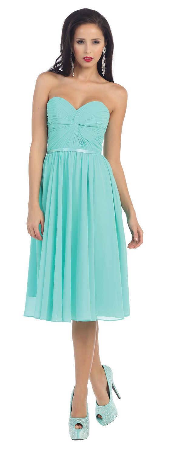 Short Prom Dress Plus Size Formal Cocktail - The Dress Outlet Aqua