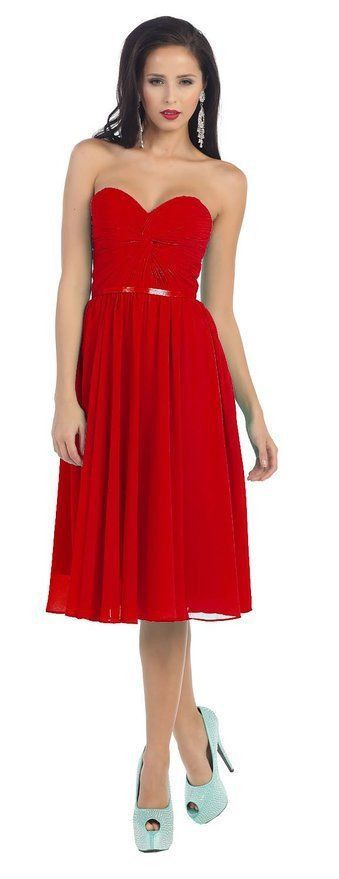 Short Prom Dress Plus Size Formal Cocktail - The Dress Outlet Red May Queen