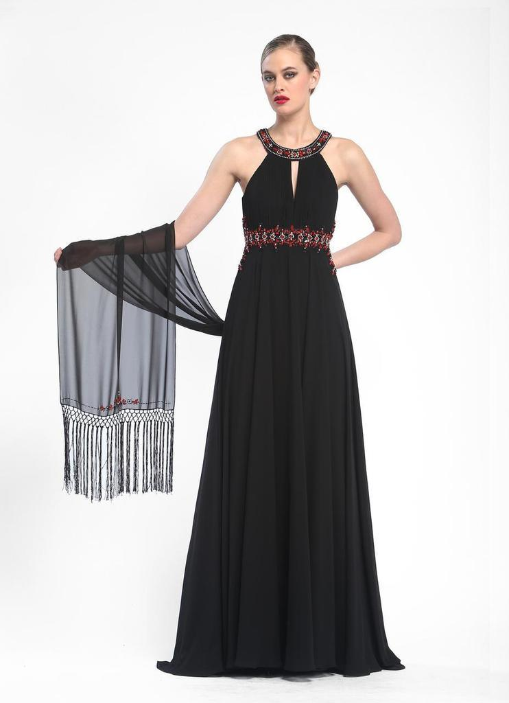 Sue Wong Sexy Long Formal Dress Evening Gown Prom - The Dress Outlet Black